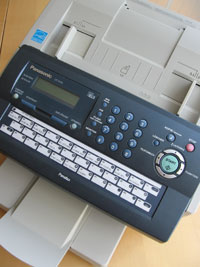 Bild vom einem Fax