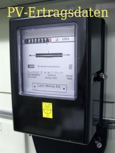 Bild eines Stromzähler - Photovoltaik Ertragsdaten
