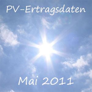 Bericht über die Photovoltaik Erträge im Mai 2011