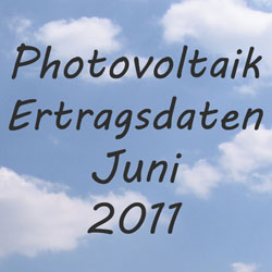 Photovoltaik Ertragsdaten 2011