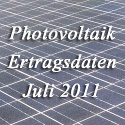 Photovoltaik 07/2011 Ertragsdaten