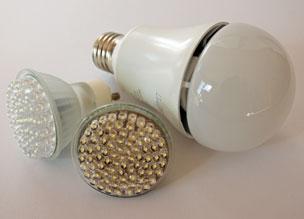 Bild von verschiedenen LED-Lampen